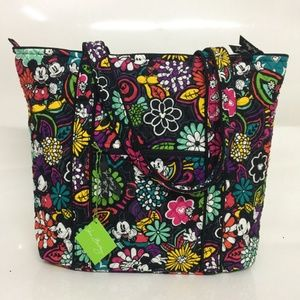 New Vera Bradley Vera Tote Mickey Magical Blooms